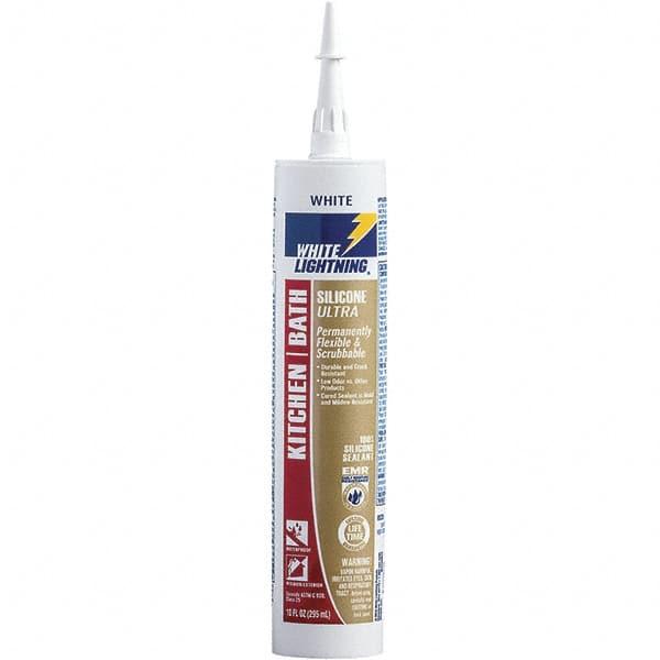 White Lightning 10 Oz Cartridge White Rtv Silicone Caulk 62513874 Msc Industrial Supply