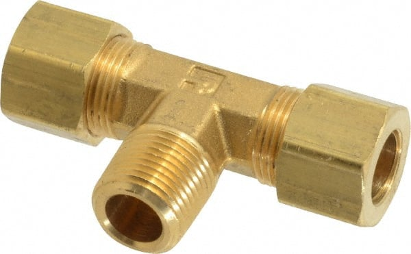 "Lead-Free 3//8/"" OD Tube Brass Compression Max Swivel Tee Fitting"