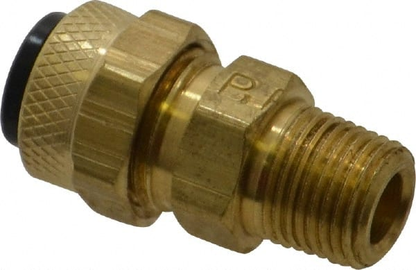 """1//8/"""" NPT Male X 1//4/"""" Compression Brass Fitting Parker New"""
