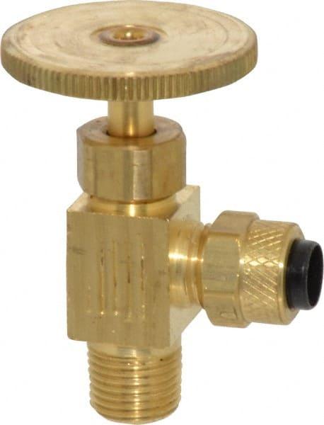 Polypropylene 3//8 Tube to Pipe Parker LFPP6VAS6 Ball Valve Push-to-Connect Angle Stop