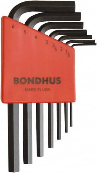 2 Piece Bondhus 16568 6mm Stubby Ball End Tip Hex Key L-Wrench