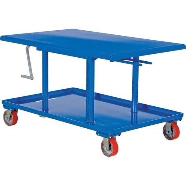 Vestil 2 000 Lb Capacity Mechanical Lift Table 64111768 Msc Industrial Supply