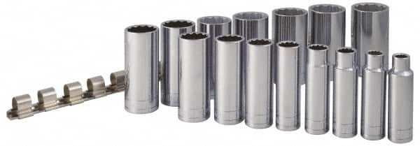 SK 4822 12 Piece 1//2-Inch Drive 6 Point 1//2-Inch to 1-1//4-Inch Deep Socket Set SK Hand Tools