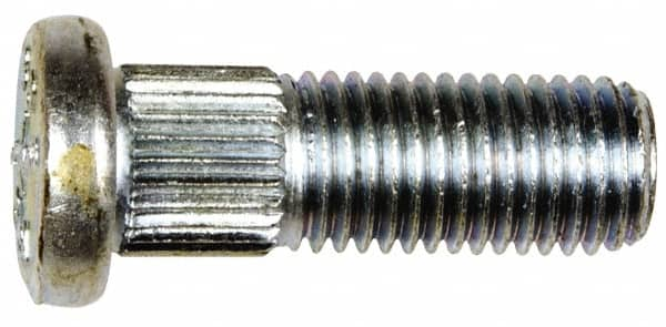10 Pack 65.4 mm Long Serrated Wheel Studs with 15.70 mm Knurl and M14-1.50 Thread