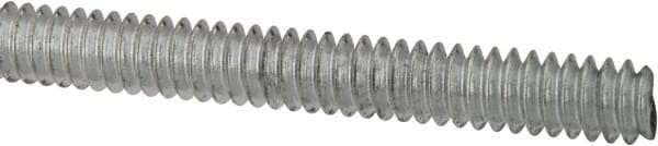 Pack of 10 #10-24 x 1 Zinc Plated Low Carbon Steel Threaded Rod,