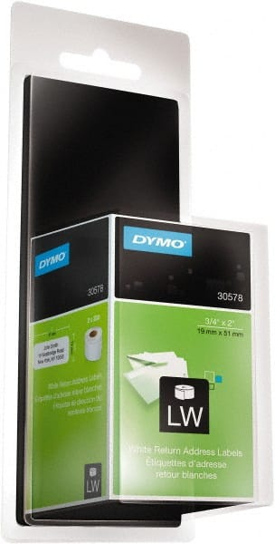 dymo white 3 4 inch labels mscdirect com