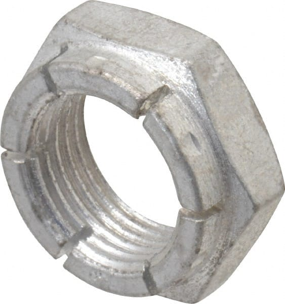 3//4-16 Slotted Hex Castle Nut Zinc Plated 3//4x16 Fine Thread Lock Nut 5