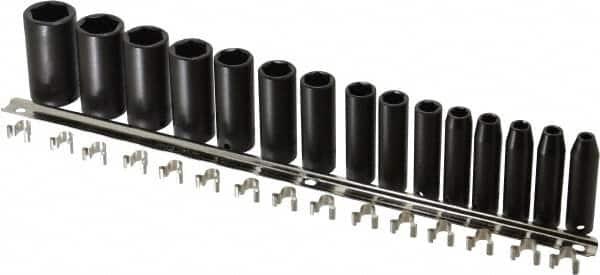15-Piece Stanley Proto J76115 1 Drive 6-Point Deep Impact Socket Set