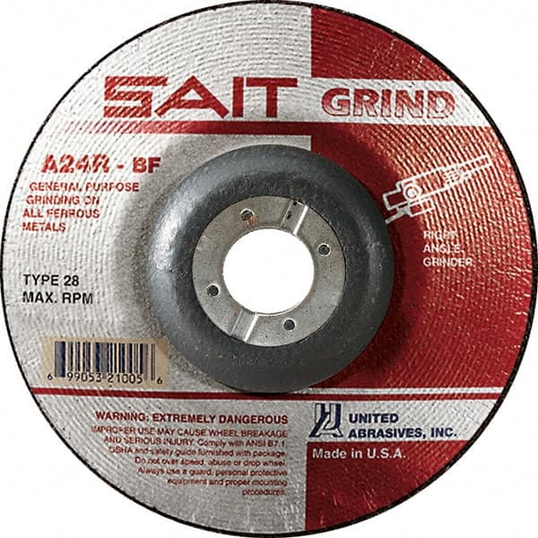 1//4 in Thick 35 Pack Depressed Center Wheel 24 Grit Aluminum Oxide 6 in Dia