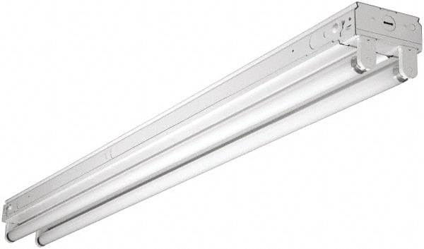 Fluorescent strip lighting mscdirect cooper lighting 2 lamp 48 watt fluorescent strip light suspended 120 volt aloadofball Gallery