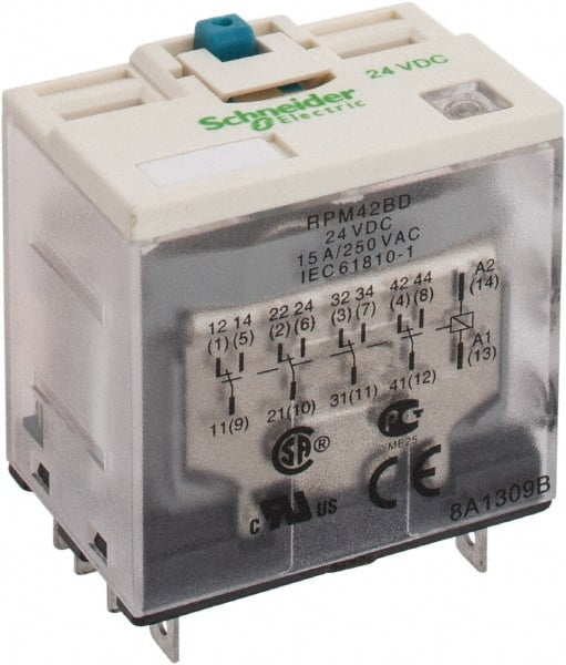 Square D - 14 Pins, Ice Cube Electromechanical Plug-in General Purpose Relay  - 68618412 - MSC Industrial SupplyMSC Industrial Supply