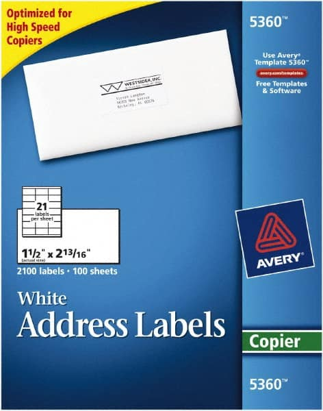 avery white address labels mscdirect com