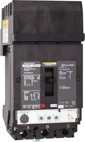 Square D - 100 Amp, 600 VAC, 3 Pole, Plug In Molded Case