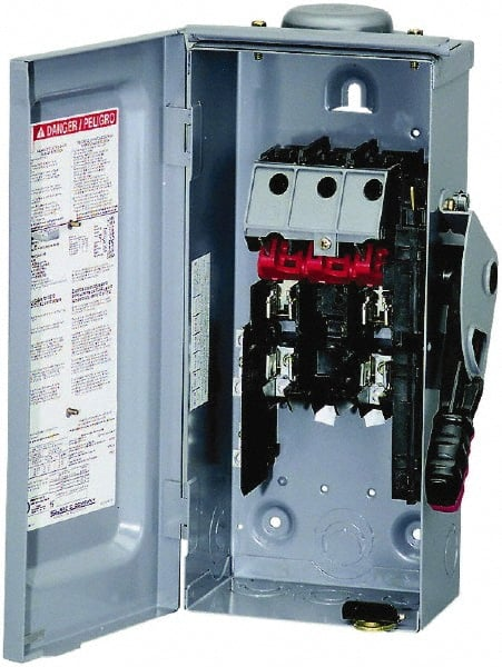square d - 30 amp, 240 vac, 250 vdc, 2 pole fused safety switch - 69525459  - msc industrial supply  msc industrial supply