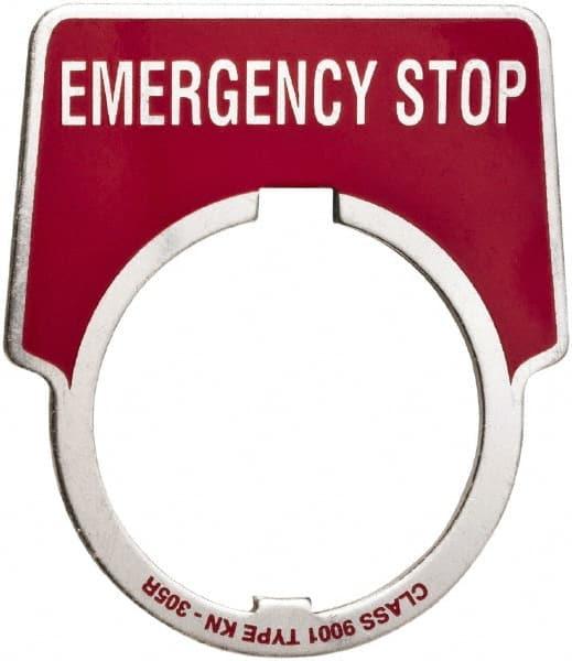 Schneider Electric Emergency Plate Mscdirect