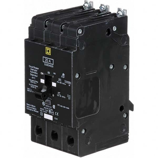 NEW SQUARE D 20 AMP CIRCUIT BREAKER 480 VAC 3 POLE EGB34020