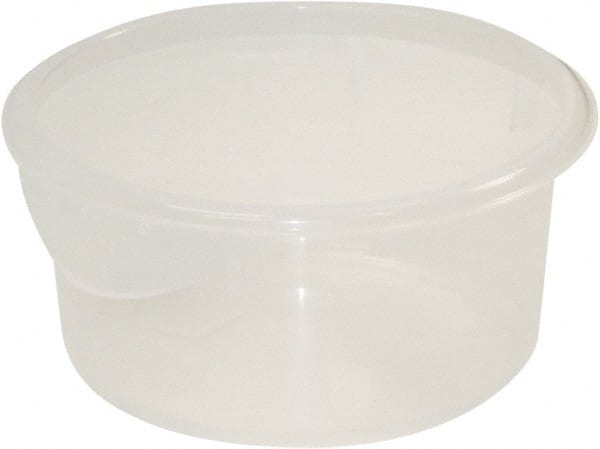 NO IMAGE AVAILABLE. Rubbermaid Round, Clear Polypropylene Food Storage  Container ...