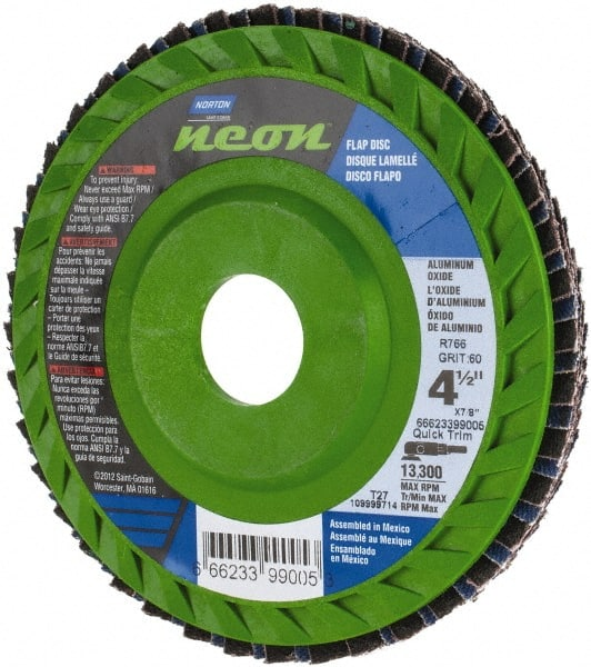 66623399019 NORTON Flap Disc,7 In x 120 Grit,5//8-11