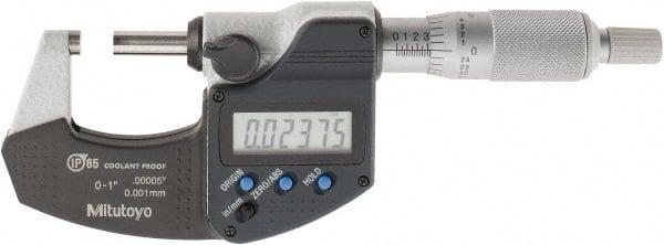 "W//O SPC Mitutoyo 293-340-30 1/"" RATCHET STOP MICROMETER"