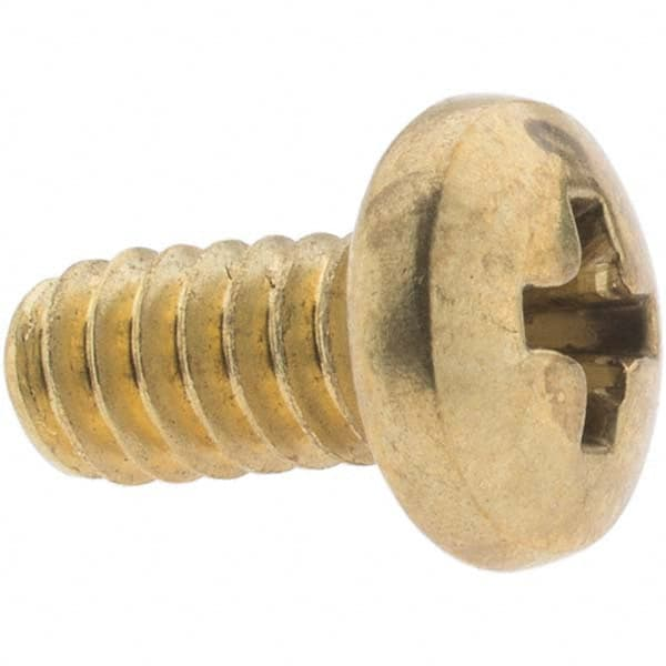 10-24 X 1 3//4 Slotted Flat Machine Screw Brass Package Qty 100