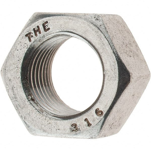 10pcs 1//2-20 SILVER PLATED STAINLESS STEEL HEX NUT
