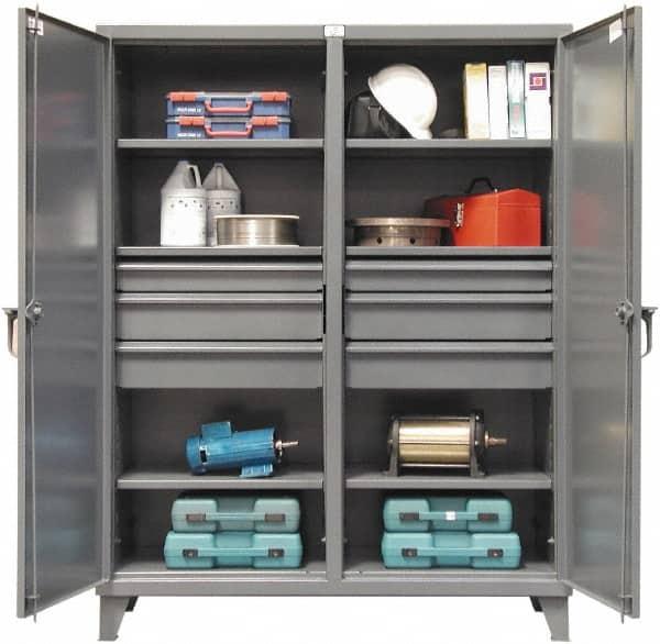 6 Shelf Bin Locking Storage Cabinet