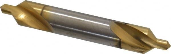 #4 #4 TiN  High Speed Steel Keo High Speed Steel Plain Center Drill 82°
