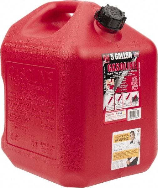 Made in USA - 5 Gal High Density Polyethylene Spill-Proof