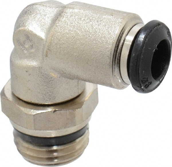 Pack of 2 Nickel Plated Brass Push to Connect Tube Fitting 1//4 Tube OD x 1//4 Tube OD Metalwork Push-to-connect Bulkhead Union