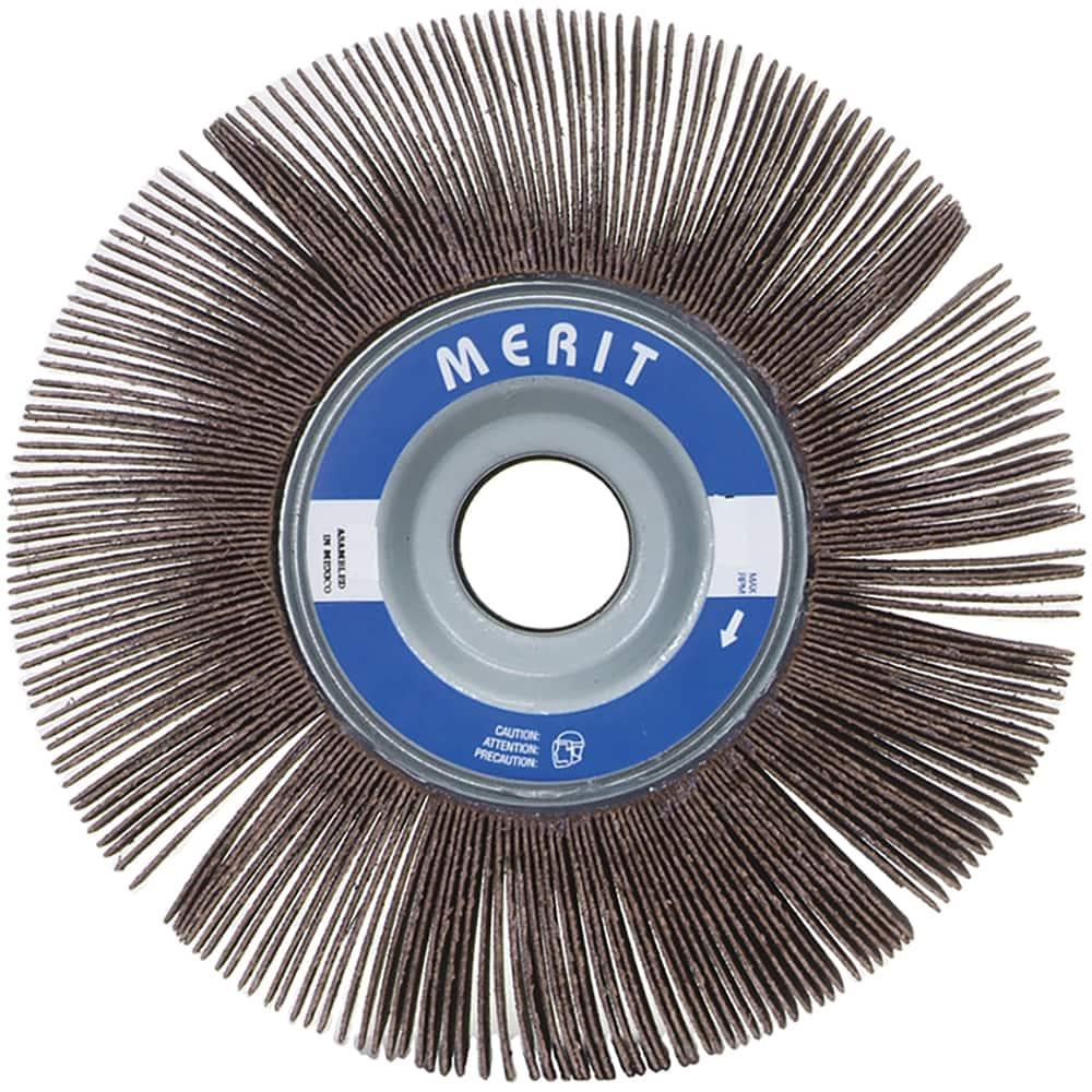 Merit Abrasives 481-08834149805 Metal Mini Flap Wheel With Mounted Steel Shank 1 x 1 x 0.25 80 Grit