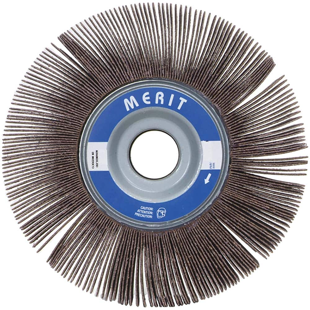 """10 Abrasive Flap Wheels 8-inch x 1/"""" x 1/"""" A//O 120 Grit Unmounted Sanding Disc"""