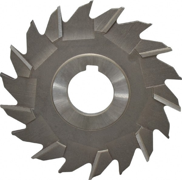 KEO Milling 84969 Staggered Tooth T15 Supreme Side Milling Cutter,NS Style 3 Cutting Diameter TiAlN Coating 9//32 Width 18 Teeth HSCO 1 Arbor Hole