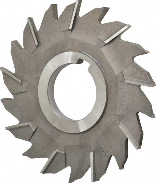 """Staggered Tooth 4 x 1//4 x 1-1//4/"""" HSS Side Milling Cutter"""