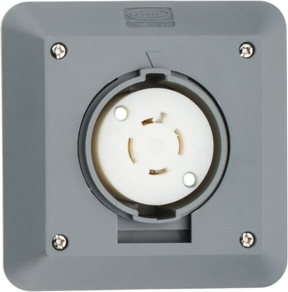 Hubbell Gray 20 Amp Receptacle | MSCDirect.com