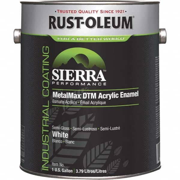 Acrylic Enamel Paint >> Rust Oleum 1 Gal White Semi Gloss Finish Acrylic Enamel Paint 73958597 Msc Industrial Supply