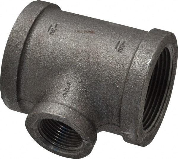 Black Iron 1-1//2 inch NPT Pipe Tee