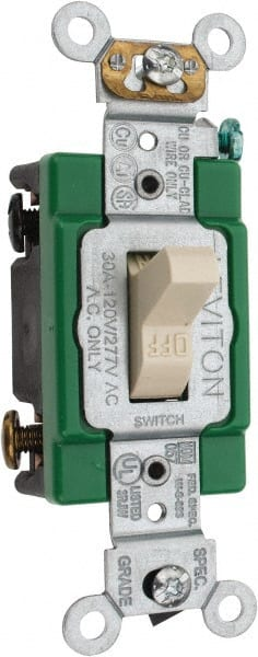 Leviton industrial toggle switch mscdirect leviton 2 pole 120 to 277 vac 30 amp industrial grade toggle sciox Gallery
