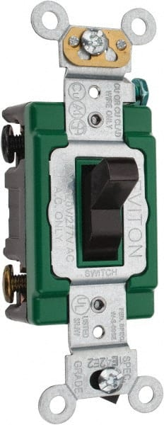 Leviton industrial toggle switch mscdirect leviton 3 pole 120 to 277 vac 30 amp industrial grade toggle sciox Gallery