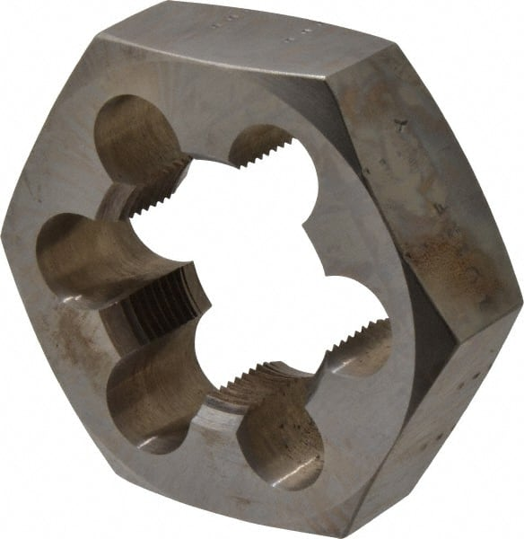 "1 1//8/""-12 CARBON STEEL HEXAGONAL RE-THREADING DIE"