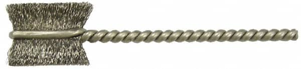 7 in Length 21101 0.005 in Bristle Diameter WEILER Stainless Steel Single Spiral Tube Brush 1//4 in Diameter