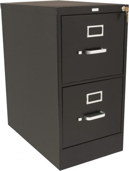 2 Drawer Black Steel Vertical File, File Cabinet 2 Drawer With Lock