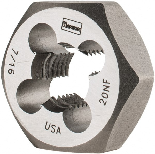 M14 X 2.0 LEFT HAND CARBON STEEL HEXAGONAL RE-THREADING DIE
