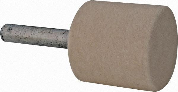 """1"""" Diam 1/4"""" Shank Diam Hard Density Cylinder Shaped Mounted Bob"""