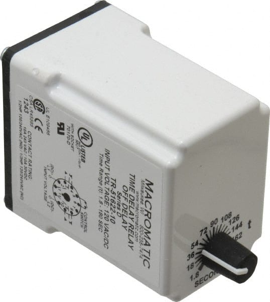 11 Pin, Multiple Range DPDT Time Delay Relay 77981793 - MSC Macromatic Time Delay Relay Wiring on