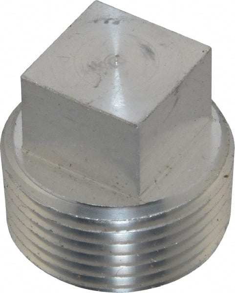 latrobe foundry 34 npt sq head plug aluminum pipe fitting