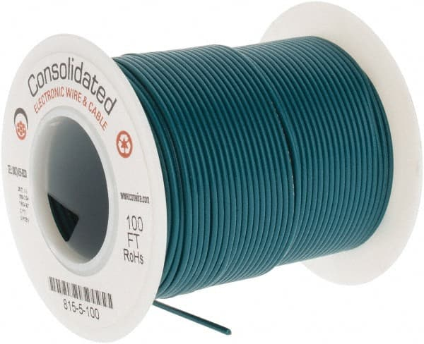 PVC Wire 304.8 m Green 20 AWG Hook Up 1000 ft 0.51 mm/Â/²