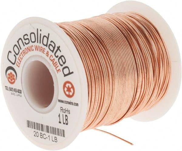 Bare Copper Wire 18 Gauge 5 lb Spool 995 Feet Diameter 0.040