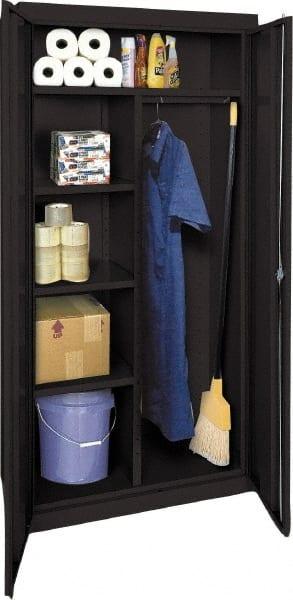 Sandusky Lee 4 Shelf Combination Storage Cabinet   Steel, 36