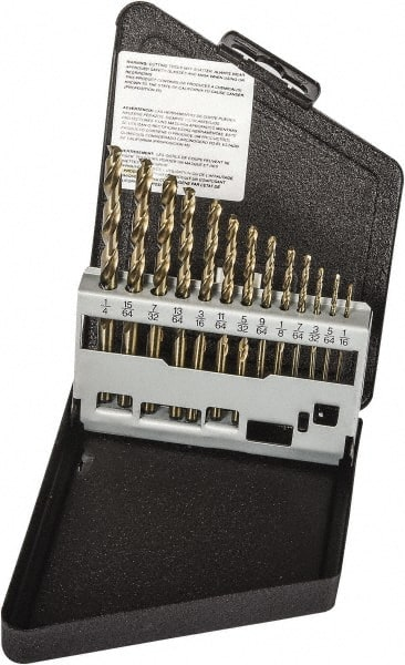 Precision Twist Drill 018687 Series R15P PART NO Bright Finish PTD18687 #87 Size Jobber Length HSS Drill