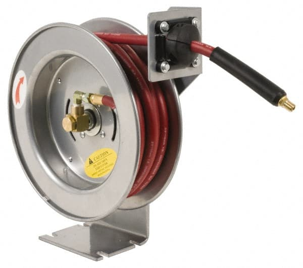 jupiter pneumatics 12inches x75u0027 300psi air spring hose reel rectrac